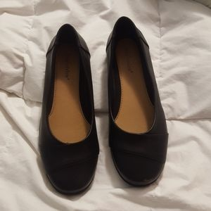 Comfortview Black Dress Shoes 9.5 Double Wide